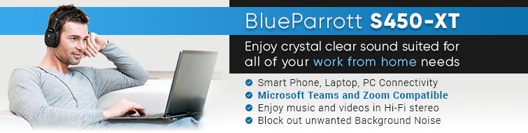 Blueparrott S450 Xt Wireless Noise Canceling Headset